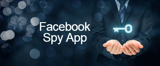 key in a man's hands on the black background and Facebook Spy App