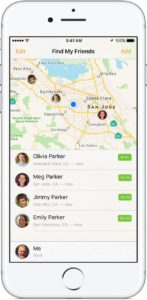 Find My Friends app for Apple phones to track locations for free