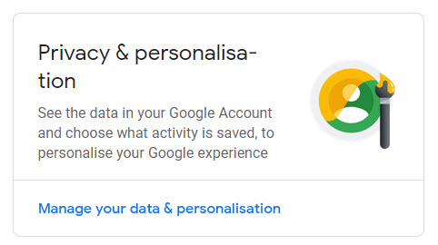 Google Privacy & personalization