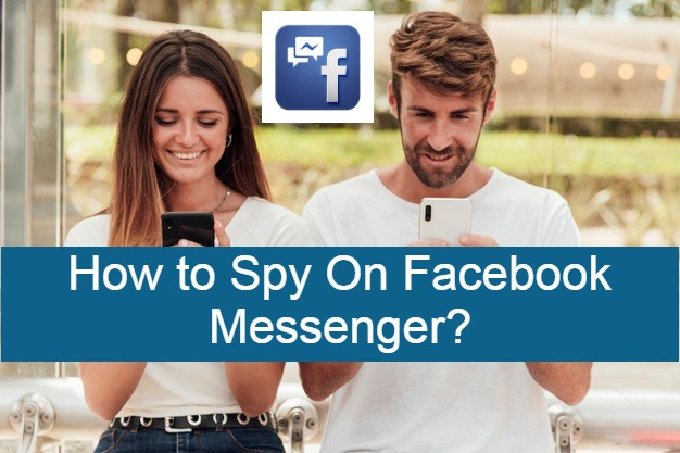 How to spy on Facebook messenger, a couple typing on their phones in the park