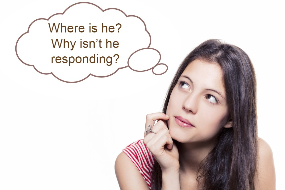 lady-thinking-Where is he? Why isn't he responding?