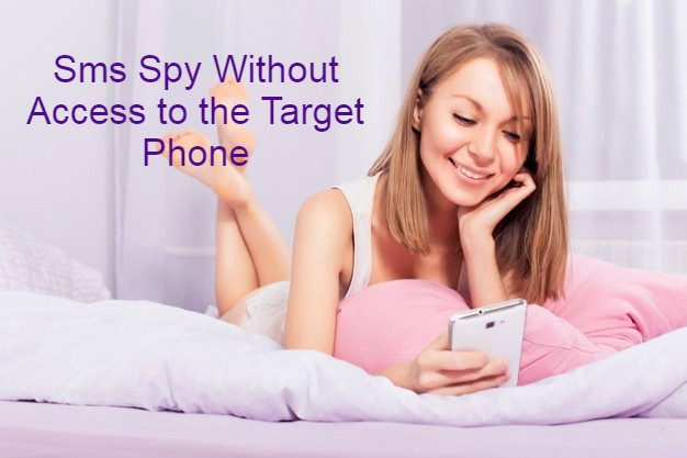 Sms Spy Without Access to the Target Phone a young beautiful woman typing on her phone
